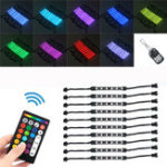 New 15 Color LED Dual Remote Control Motorcycle Atmostphere Lamp Style Light Kit Decoration