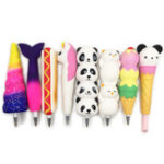 New Squishy Pen Cap Ice Cream Cone Animal Slow Rising Jumbo Stress Relief Toys Student Office Gift