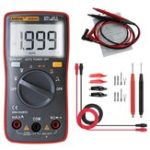 New ANENG AN8004 Red Digital 2000 Counts Auto Range Multimeter Backlight AC/DC Ammeter Voltmeter Resistance Frequency Capacitance Meter + Test Lead Set