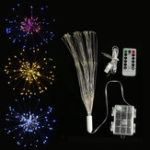 New Dual Powered USB Battery 150 LED Starburst String Fairy Light Sliver Wire Wedding Party Home Decor
