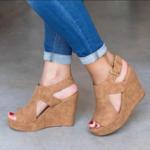 New Women Platform Shoes Wedge Heels Sandals Peeps Sandals