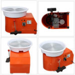 New 220V 350W Pottery Wheel Ceramic Machine Removable Electric Pottery Wheel DIY Clay Tool Ceramics Clay Machine Ceramic Work Clay Art Craft 32cm