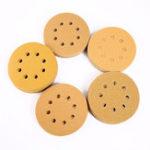 New 100pcs 5 Inch 8 Holes Hook Loop Sanding Discs Orbit Sandpaper Mat 60/80/120/150/240 Grit