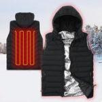 New Outdoor Sports Heating Sleeveless Vest Unisex 3 Modes Warm Waistcoat Full Zipper Windproof Jacket Tank Tops