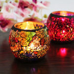 New Mosaic Candle Holder Romantic Candlelight Dinner Wedding Party Candle Lamp Home Decoration