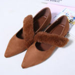New Pointed Flats Slip On Women's Shoes