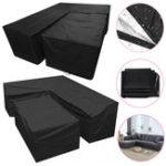 New 2pcs Waterproof L Shape Corner Garden Furniture Sofa Table Cover Rattan Protector