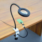 New USB 3X Soldering Magnifier Magnifying Glass Working Light Soldering Iron Holder Bench Vise Table Clamp with 2Pcs Flexible Arms