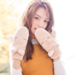 New Women's Winter Faux Rabbit Fur Mittens Gloves