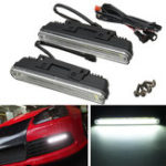 New Universal COB LED DRL Daytime Running Lights Front Driving Fog Lamp Waterproof White 21cm 2PCS