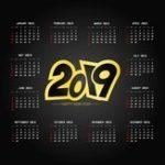 New Calendar 2019 MousePad Mat Anti-Slip Computer PC Desktop Gaming Mouse Pad New
