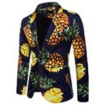 New Mens Pineapple Pattern Tropical Beach Style Trendy Slim Fit