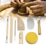 New 8Pcs Clay Sculpting Set Wax Carving Pottery Tool Shapers Polymer Modeling Ceramic