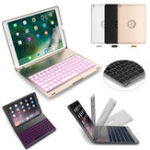 New 7 Colors Backlit Aluminum Alloy Wireless Bluetooth Keyboard Case For iPad Air/iPad Air 2
