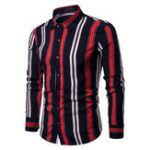 New Mens Fashion Modal Striped Casual Shirts