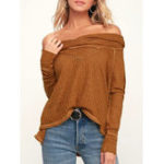 New Women Casual Solid Color Long Sleeve knitted Tops