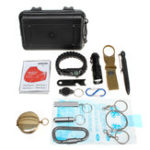 New 17 in 1 SOS Emergency Camping Hiking Hunting Outdoor Survival Equipment Tools Kit Gear