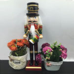 New 30cm Wooden Nutcracker Doll Soldier Vintage Handcraft Decoration Action Figure Gifts