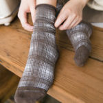 New Women Vintage Cotton Crimped Lattice Tube Socks