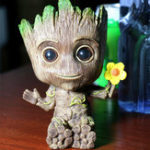 New Gardening Baby Groot Plants Flower Pot America Action Figures Toy Mini Pen Pot Storage Vessel