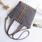 New Women Canvas National Embroidery Patchwork Shoulder Bag