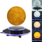 New 3D Magnetic Levitation Moon Floating Touch Led Night Light Desk Lamp
