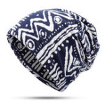 New Womens Double Layers Cotton Dual-Use Beanie Cap Scarf