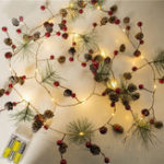 New Pinecone LED String Light Christmas Garland New Year Party Wedding Decoration Lights