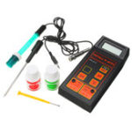 New Wattson Portable PH-8414 PH ORP Temperature Meter 3 in 1 with Battery and PH Buffer Powder