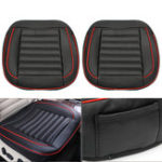 New 50x52cm Car Seat Cover PU Leather Auto Chair Cushion Mat Buckwhear Shell Filling 2Pcs Universal