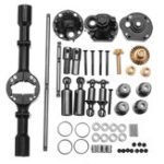 New 1 Set WPL B16 B36 1/16 Rc Car Upgraded Parts Metal OP Accessory Middle Bridge Axle