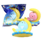 New Sanqi Elan 16CM Animal Squishy Unicorn Moonlight Whale Slow Rebound With Packaging Gift Collection