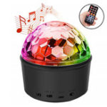 New Wireless Bluetooth Night Light Remote Control Speaker LED Handsfree Mini Ball Headset for DJ Party Disco