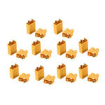 New 10 Pairs XT30 2mm Golden Male Female Plug Interface Connector