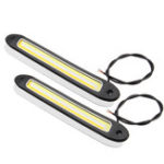 New 2PCS 12V LED COB Car DRL Daytime Running Lights Driving Fog Lamp Turn Light Waterproof Dual Color