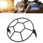 "New 5.75"" Universal Motorcycle Football Grill Cover Headlight Protector For Harley Cruiser"