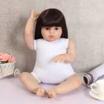 "New 28"" Handmade Lifelike Reborn Doll Girl Silicone Vinyl Newborn Dolls Cloth Toys"