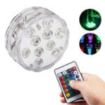 New ZANLURE 10 LEDs 16 Colors Underwater Light Float Lamp Wireless Remote Control Fishing Lamp 3 x AAA