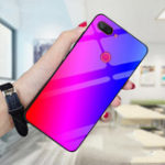 New Bakeey Gradient Color Tempered Glass Shockproof Protective Case For Xiaomi Mi 8 Lite