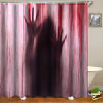 "New 71"" Halloween Bloody Hands 3D Printed Bathroom Shower Curtain Decor With 12 Hooks"