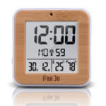 New FanJu FJ3533 LCD Digital Alarm Clock Indoor Temperature Dual Alarm Snooze Backlight Function Date Display