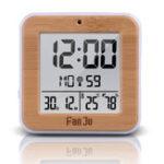 New FanJu FJ3533 LCD Digital Alarm Clock Indoor Temperature Dual Alarm Snooze Backlight Function Date Display