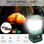 New 9W 1000LM 46LED Portable Outdoor Camping Tent Light Battery Dimmable Lamp Lantern