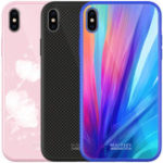 New NILLKIN Colorful Shockproof Tempered Glass + Soft TPU Back Cover Protective Case for iPhone X