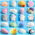 New Mochi Squishy Cat Kitten Seal Squeeze Cute Healing Toy Kawaii Collection Stress Reliever Gift Decor