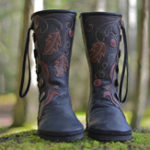 New LOSTISY Large Size Keep Warm Buckle Mid Calf Boots