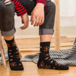 New Men Middle Tube Printed Breathable Cotton Socks