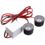 New 12V-80V Motorcycle LED Round Burst Flash Strobe Car Eagle Eye Lights Red Blue White