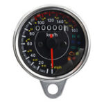 New 12V Universal Motorcycle Speedometer With LED Signal Light Cafe Racer Retro Odometer