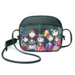 New Women Forest Print Shell Crossbody Bag PU Leather Bag